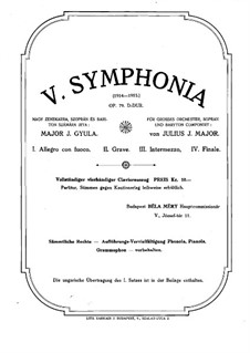 Symphony No.5 in D Major, Op.79: Version for piano four hands, soprano and baritone by Jakob Gyula Major