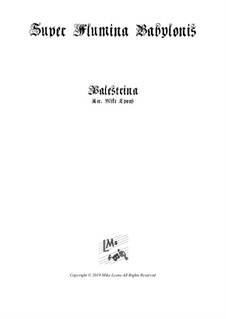 Super Flumina Babylonis: For bassoon quartet by Giovanni da Palestrina