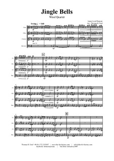 Jingle Bells: Para quarteto de sopro by James Lord Pierpont