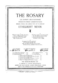 The Rosary (Le chapelet): Partitura Piano-vocal by Ethelbert Woodbridge Nevin