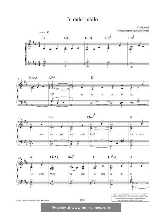 In dulci jubilo: Para Piano by folklore