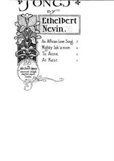 To Anne: To Anne by Ethelbert Woodbridge Nevin