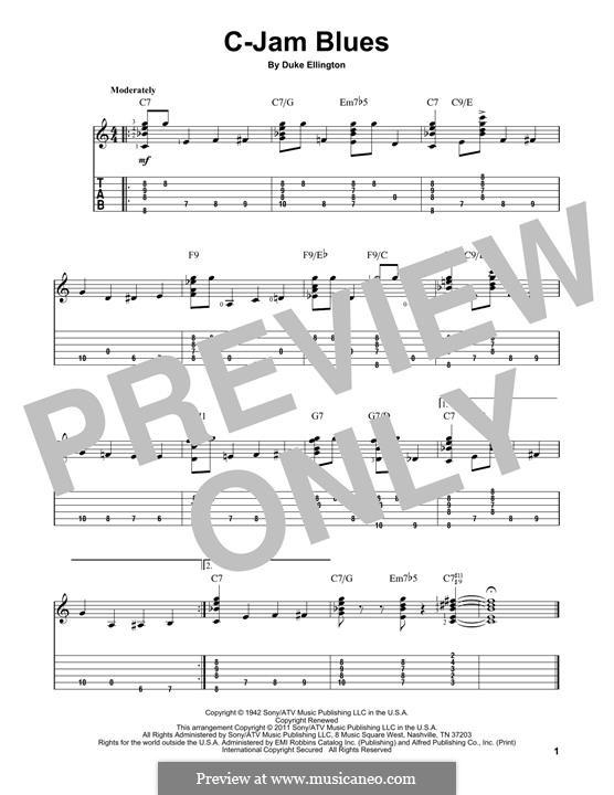 C-Jam Blues: Para guitarra com guia by Duke Ellington