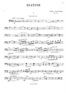 String Quartet in D Major, Op.143: parte violoncelo by Léo Sachs