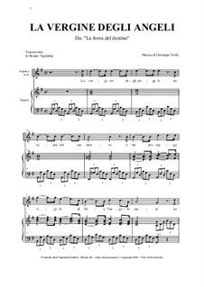 La forza del destino: La Vergine degli Angeli, for soprano and organ by Giuseppe Verdi