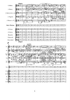 Concerto for Violin and Orchestra in D Major, Op.77: movimento II by Johannes Brahms