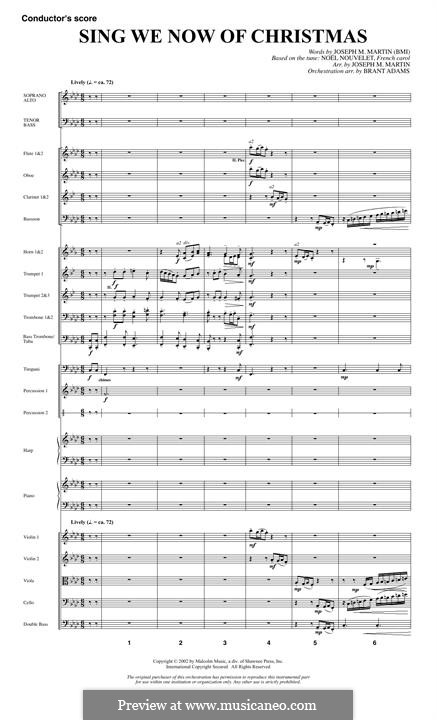 Sing We Now of Christmas (from Morning Star): partitura completa by folklore