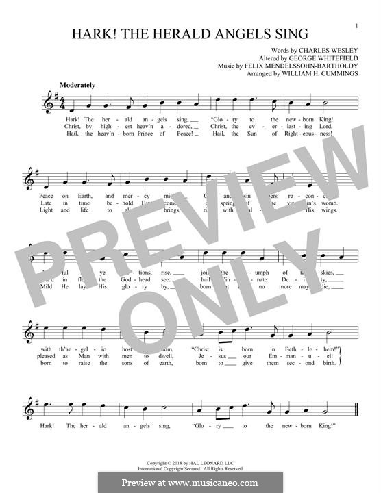 Piano-vocal score: melodia by Felix Mendelssohn-Bartholdy