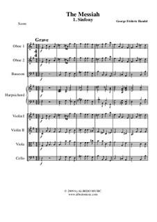 No.1 Overture: para orquestra de camara by Georg Friedrich Händel