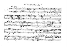 String Quartet No.10 in E Flat Major 'Harp', Op.74: versão para piano de quatro mãos by Ludwig van Beethoven