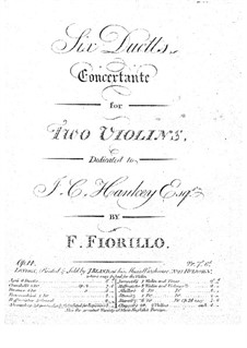 Duos Concertants for Two Violins: Duos Concertants for Two Violins by Federigo Fiorillo