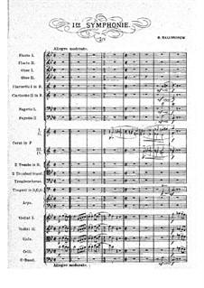 Symphony No.1 in G Minor: movimento I by Vasily Kalinnikov