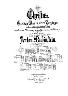 Christus, Op.117: Prologue, for soloists, choir and piano by Anton Rubinstein