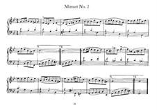 Minuet No.2 in G Minor, BWV 842: para cravo by Johann Sebastian Bach