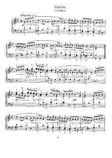 Gavotte in G Minor: para cravo by Johann Sebastian Bach