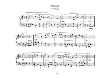 Minuet in F Major: para cravo by Johann Sebastian Bach