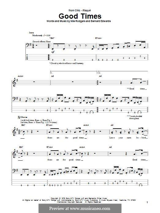Good Times (Chic): para baixo by Bernard Edwards, Nile Rodgers