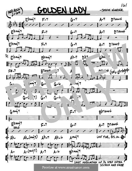 Golden Lady: Para Guitarra by Stevie Wonder