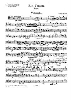 Rêve for Violin, Cello and Harp: parte violoncelo by Otto Weber