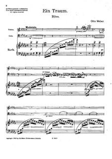 Rêve for Violin, Cello and Harp: partitura completa by Otto Weber