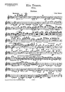 Rêve for Violin, Cello and Harp: parte do violino by Otto Weber