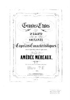 Grandes études pour piano en soixante caprices caractéristiques, Op.63: Etudes No.37-48 by Amédée Méreaux