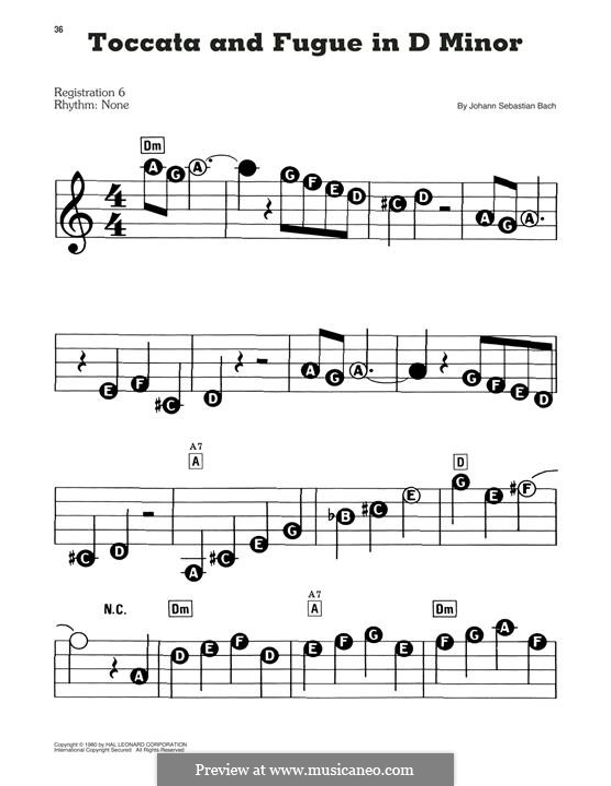 Toccata and Fugue in D Minor, BWV 565: Facil para o piano by Johann Sebastian Bach