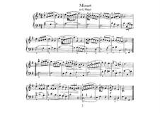 No.4 Minuet in G Major, BWV Anh.114: para cravo by Johann Sebastian Bach