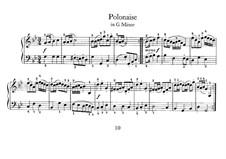 No.10 Polonaise in G Minor, BWV Anh.119: para cravo by Johann Sebastian Bach