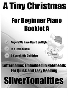 A Tiny Christmas for Beginner Piano Booklet A: A Tiny Christmas for Beginner Piano Booklet A by folklore