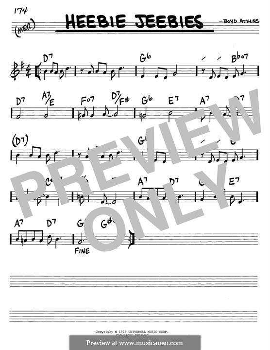 Heebie Jeebies (Louis Armstrong): Para Guitarra by Boyd Atkins