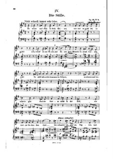 No.4 Die Stille (Stillness): gravação piano-vocal (texto alemão) by Robert Schumann