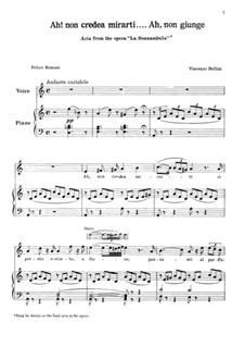 Ah! Non credea: Para vocais e piano by Vincenzo Bellini
