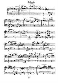 No.28 Polonaise in G Major, BWV Anh.130: para cravo by Johann Sebastian Bach