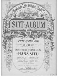 Album for Violin and Piano: Album for Violin and Piano by Hans Sitt