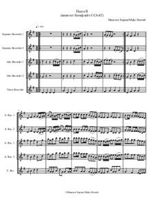 Пьеса No.2 для квинтета блокфлейт ССААТ, MH 131019: Пьеса No.2 для квинтета блокфлейт ССААТ by Maks Horosh