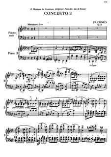 Partitura completa: Versão para dois pianos de quatro mãos by Frédéric Chopin