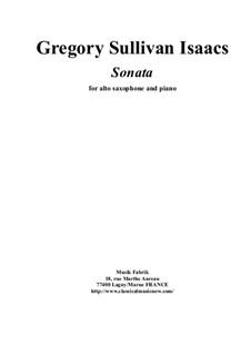 Sonata for alto saxophone and piano: Sonata for alto saxophone and piano by Gregory Sullivan Isaacs