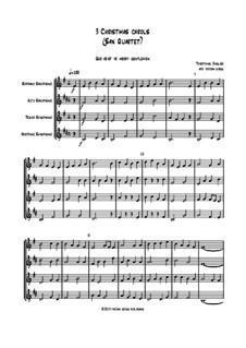 3 Christmas Carols: para quarteto de saxofone by folklore