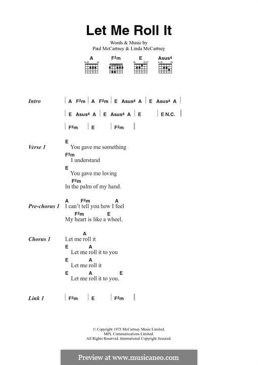 Let Me Roll It: Letras e Acordes by Linda McCartney, Paul McCartney