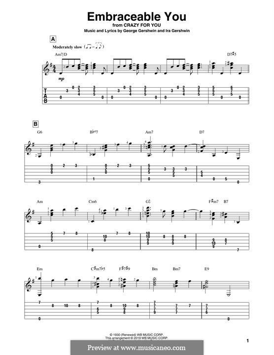 Embraceable You: Para Guitarra by George Gershwin