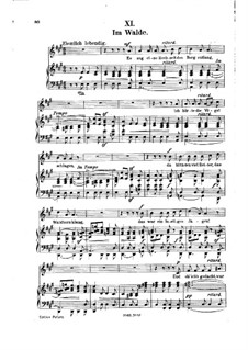 No.11 Im Walde (In the Wood): Partitura Piano-vocal by Robert Schumann