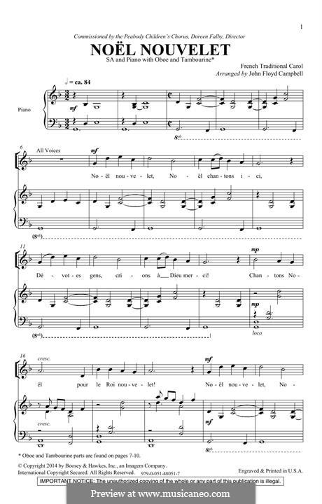 Noel Nouvelet: para coro misto by folklore