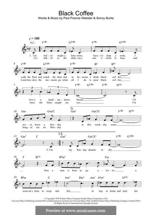 Black Coffee: melodia by Sonny Burke