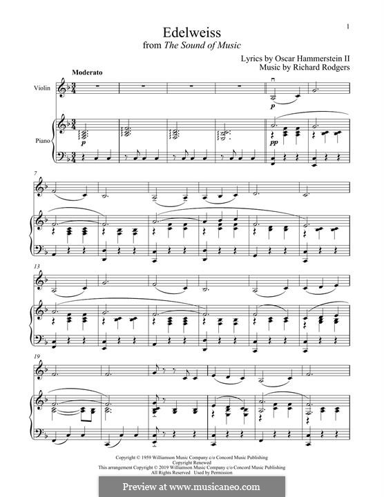 Edelweiss (from The Sound of Music): para violino by Richard Rodgers