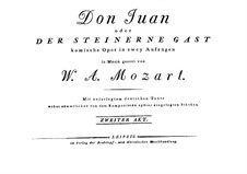Fragments: Act II. Full score by Wolfgang Amadeus Mozart
