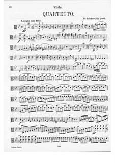 String Quartet No.9 in G Minor, D.173: parte viola by Franz Schubert