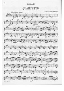 String Quartet No.11 in E Major, D.353 Op.125 No.2: violino parte II by Franz Schubert