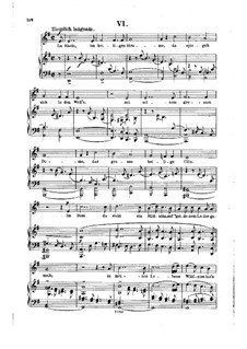 No.6  In the Rhine, in the Sacred Stream: Partitura Piano-vocal by Robert Schumann