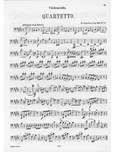 String Quartet No.11 in E Major, D.353 Op.125 No.2: parte violoncelo by Franz Schubert